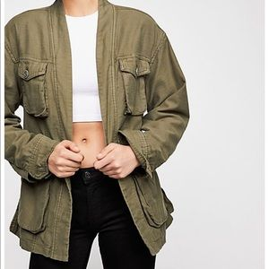 Free People In Our Nature Cargo Jacket Army Green